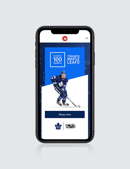 Toronto Maple Leafs Campaign Landing Page